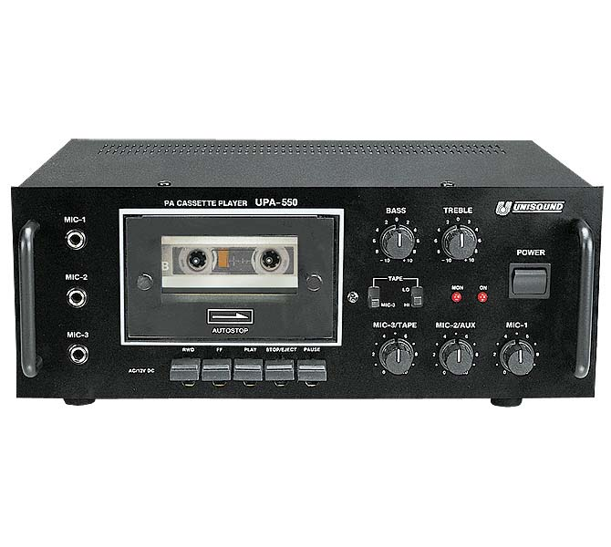 PA CASSETTE PLAYER AMPLIFIERS - UPA550